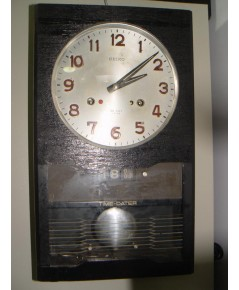 นาฬิกาลูกตุ้ม SEIKO นาฬิกาแขวนไขลานโบราณ 30วัน มีวัน-วันที่ ใช้งานได้ปกติ