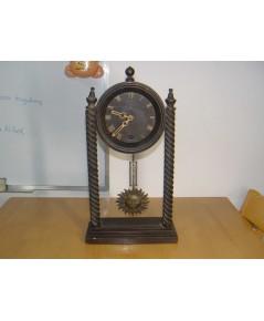 นาฬิกาเยอรมันโบราณ แบบเปลือยตั้งโต๊ะ ระบบไขลาน ใช้งานได้ปกติ