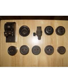 ปลั๊กไฟโบราณ สวิทช์ไฟโบราณ ขั้วไฟโบราณ และคัทเอ้าท์ไฟโบราณ