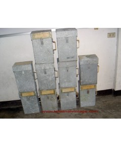 กล่องสังกะสีโบราณ 10กล่องขายเหมา สำหรับใส่เอกสารมีกุญแจล็อก