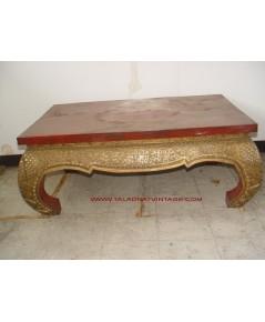 โต๊ะไม้แท้ ขาสิงห์ ลายไทย โบราณ