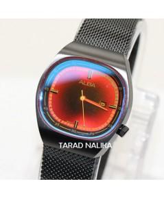 นาฬิกา ALBA modern ladies  Tokyo Neon AH7Y43X1  รมดำ หน้าปัดสี Neon