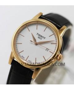 นาฬิกา TISSOT CARSON quartz pinkgold T085.410.36.0131.00 สายหนัง
