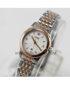 นาฬิกา ORIS Classic Date Lady 56176504331 MB สองกษัตริย์ pinkgold
