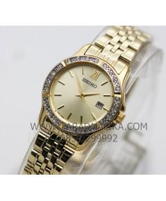 นาฬิกา SEIKO modern lady crystal ควอทซ์ SUR728P1 เรือนทอง