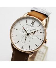 นาฬิกา ALBA Smart gent AZ8006X1 pinkgold สายหนัง