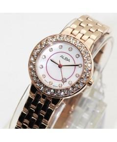 นาฬิกา ALBA modern ladies crystal AH7M26X1 pinkgold