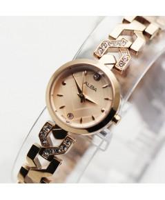 นาฬิกา ALBA lady นาฬิกาข้อมือ รุ่น AH7M40X1 สีทองชมพู