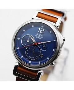 นาฬิกา ALBA Sport Chronograph Gent AT3D71X1 สายหนัง