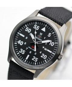 นาฬิกา Orient SP Sport ควอทซ์ ORUNG2003B รมดำ สายหนังบุผ้า