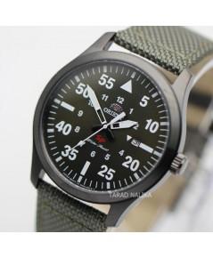นาฬิกา Orient SP Sport ควอทซ์ ORUNG2004F รมดำ สายหนังบุผ้า