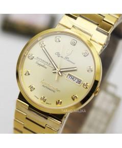 นาฬิกา Olym pianus sportmaster automatic sapphire 8909AM-434 เรือนทอง หลักพลอย