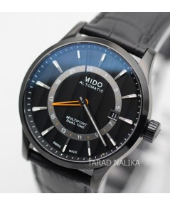 นาฬิกา MIDO Multifort GMT M038.429.36.051.00 สายหนัง black PVD