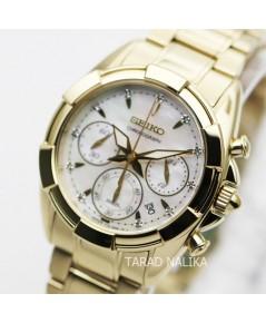 นาฬิกา SEIKO Velatura diamond Lady SRW782P1 เรือนทอง