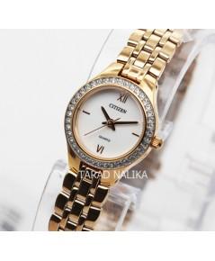นาฬิกา CITIZEN lady crystal EJ6143-59A pinkgold