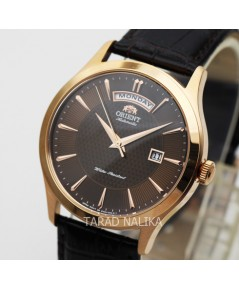 นาฬิกา Orient Automatic Classic สายหนัง OREV0V002T เรือนทอง pinkgold