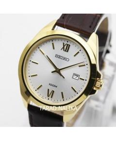 นาฬิกา SEIKO ควอทซ์ Gent SUR284P1 เรือนทองสายหนัง