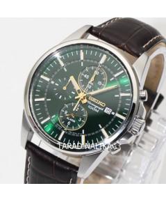 นาฬิกา SEIKO Men Chronograph SNAF09P1 สายหนัง