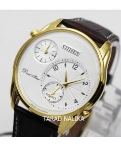 นาฬิกา Citizen gent Dual Time Quartz AO3032-02A เรือนทองสายหนัง