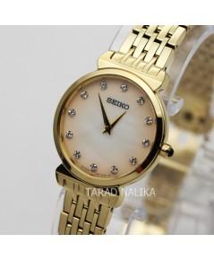 นาฬิกา SEIKO modern lady crystal ควอทซ์ SFQ802P1 เรือนทอง