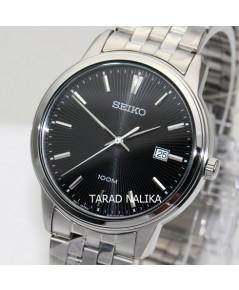 นาฬิกา SEIKO ควอทซ์ Gent SUR261P1 หน้าปัดดำ