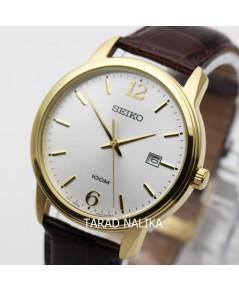 นาฬิกา SEIKO ควอทซ์ Gent SUR266P1 สายหนัง เรือนทอง