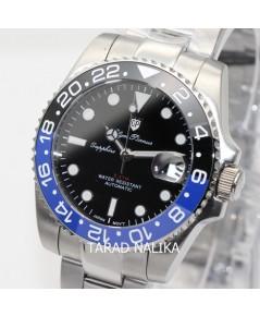 นาฬิกา Olym pianus Automatic submariner sapphire 899832AG-423 Gen II BATMAN ขอบเซรามิคน้ำเงินดำ