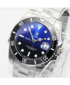 นาฬิกา Olym pianus Automatic submariner sapphire 899832AG-423 Gen II ขอบเซรามิคดำ หน้าทูโทนดำน้ำเงิน