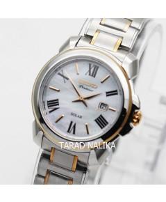 นาฬิกา SEIKO Premier Solar Classic lady SUT322P1 สองกษัตริย์ pinkgold