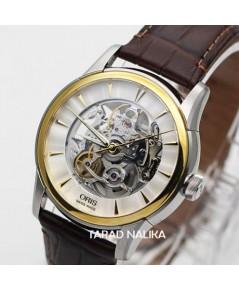 นาฬิกา Oris Artelier Translucent Skeleton 73476704351FC สายหนัง เปลือยหน้าหลัง