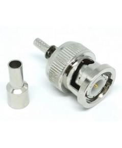 [CON-BNCM-100] : BNC male plug crimp for LMR100 LLC100 RG174 RG316