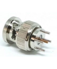[CON-BNCM-PCB] : BNC male connector Straight PCB Mount Jack