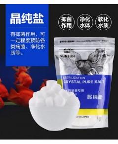 SUNSUN Crystal Pure Salt เกลือเม็ดบริสุทธิ์ ไม่มีไอโอดีน ช่วยเพิ่มแร่ธาตุและป้องกันโรค
