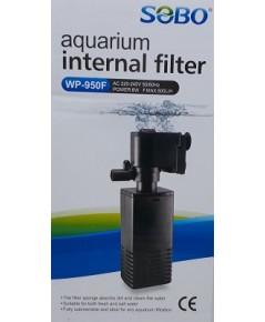ปั้มน้ำพร้อมกระบอกกรองในตู้ SOBO WP-950F สำหรับตู้ปลาขนาด 12-14 นิ้ว