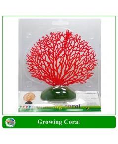 ปะการังเทียม สีแดง ใช้ตกแต่งตู้ปลา