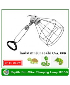 Reptilepro Wire Clamping Lamp M250 โคมไฟสำหรับหลอด UVA, UVB สัตว์เลื้อยคลาน (เฉพาะโคมไฟ)
