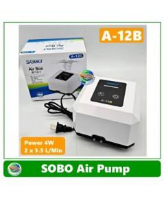 SOBO A-12B ปั๊มลม ปั๊มออกซิเจน Air Pump รุ่นใหม่ เสียงเงียบ