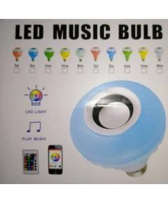 หลอดไฟ led + บูลทูธเกลียว E27 พร้อมรีโมทเปลี่ยนสี