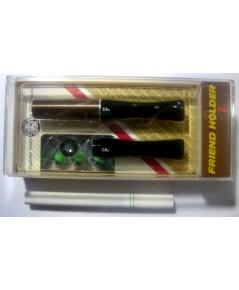 ที่กรองบุหรี่ Friend Holder (รุ่น L) แบบหัวยาว ดีดไม่ได้ ชุดกล่อง ( สีน้ำตาล ลายเกลียว)