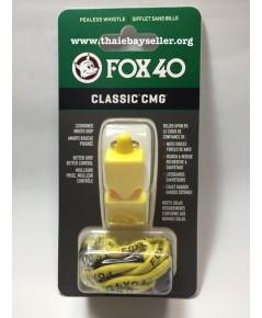 นกหวีด  FOX 40 Classic CMG สีเหลือง ของแท้ ของใหม่