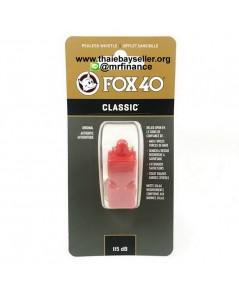 นกหวีด FOX 40 Classic (สีแดง) ไม่มีสายคล้องคอ และไม่มี CMG ของแท้ ของใหม่
