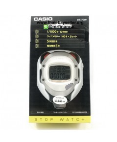 Casio Stopwatch นาฬิกาจับเวลา รุ่น HS-70W (สีขาว นำเข้าจากประเทศญี่ปุ่น) สินค้ามีจำนวนจำกัด ข