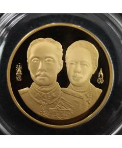 เหรียญร.5 ที่ระลึกครบรอบ100ปี โรงเรียนพยาบาลผดุงครรภ์และอนามัยศิริราช เนื้อทองคำขัดเงา พิมพ์ใหญ่