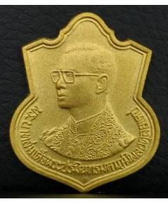 เหรียญเสมาที่ระลึก 6 รอบรัชกาลที่9  ปี2542 เนื้อทองคำ หนัก15.2กรัม สร้างโดยกระทรวงมหาดไทย นิยม หายาก