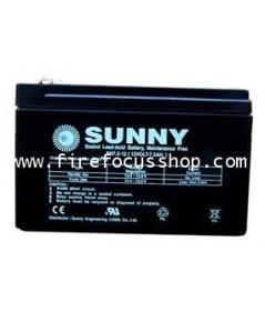 แบตเตอรี่แห้งชนิดตะกั่วกรดขนาด 12V-7.5AH ยี่ห้อ Sunny