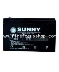แบตเตอรี่แห้งชนิดตะกั่วกรดขนาด 12V-9AH ยี่ห้อ Sunny