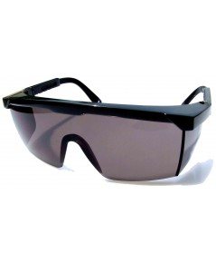 แว่นตานิรภัยแบบเลนส์ดำ
