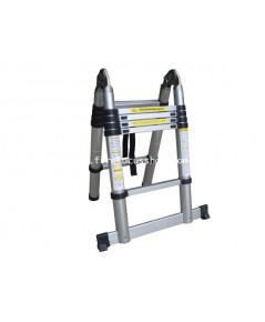บันไดอลูมิเนียม ยีดหดได้ Extend Ladder แบบตั้งสองขาสูง 2.5 m พาดยาวสูง 5.02 m