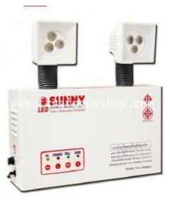 หลอด LED 3W x 2 หลอด,แบตเตอรี่ขนาด 12V-4.5AH,สว่างนาน 6 ชม. รุ่น NAU203DH6LED ยี่ห้อ Sunny