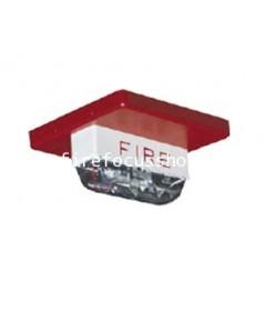 ไฟแฟลชกระพริบ (Strobe) 24V สำหรับติดที่เพดานสีแดง รุ่น rss-24mcc-fr ยี่ห้อ Wheelock มาตรฐาน UL